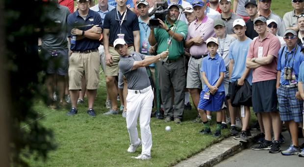 Rory McIlroy had a tough day in Charlotte (AP)