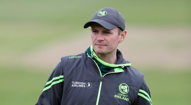 Ireland captain William Porterfield made a second-innings century in the Dublin draw against Holland.