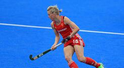 Captain Alex Danson was on target for England