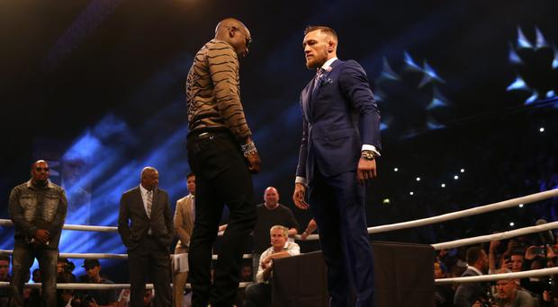 Conor McGregor and Floyd Mayweather fight on Saturday at Las Vegas' T-Mobile Arena