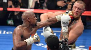 Floyd Mayweather defeated Conor McGregor in Las Vegas