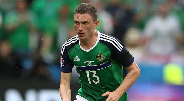 Corry Evans, pictured, replaced Kyle Lafferty in Northern Ireland's only change