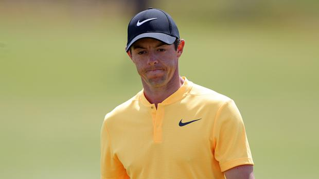 Rory McIlroy has slipped to sixth in the latest world rankings