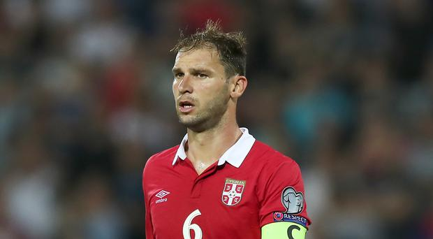 Serbia skipper Branislav Ivanovic survived the challenge posed by the Republic of Ireland