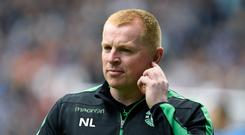 Hibernian manager Neil Lennon. Photo: PA