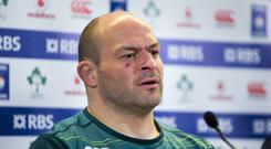Ireland captain Rory Best has been sidelined by a hamstring injury
