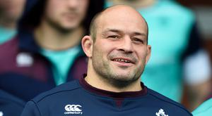 Ireland captain Rory Best tore his hamstring in training last week and has since been on crutches. Photo: PA