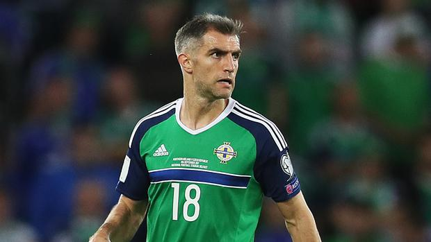 Aaron Hughes came off injured playing for Hearts on Saturday
