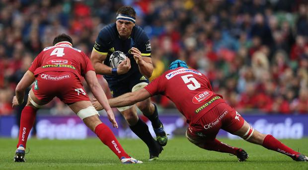 Tadhg Beirne, right, will join Munster next summer