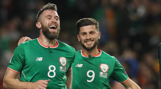 Daryl Murphy, left, proved to be the match-winner with two early strikes