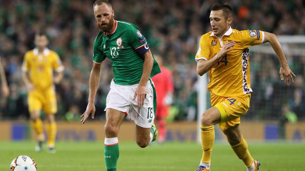 David Meyler, left, is relishing the Republic of Ireland's World Cup trip to Wales