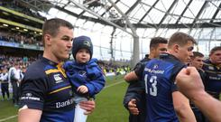 Leinster's Johnny Sexton, left, broke the province's all-time points-scoring record