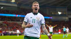 James McClean scored the winner as Republic of Ireland beat Wales to clinch a spot in the World Cup play-offs.
