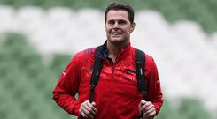 Rassie Erasmus guided Munster to a hard-fought victory over Racing on Saturday evening