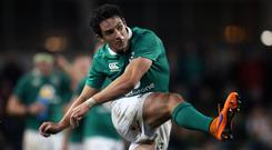 Ireland's Joey Carbery can play at fly-half, scrum-half or full-back