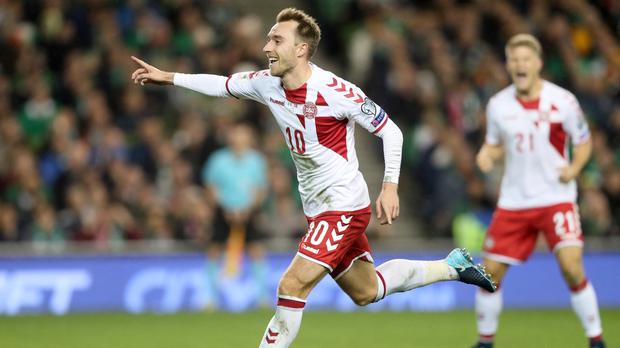 Christian Eriksen ended Ireland's 2018 World Cup dreams