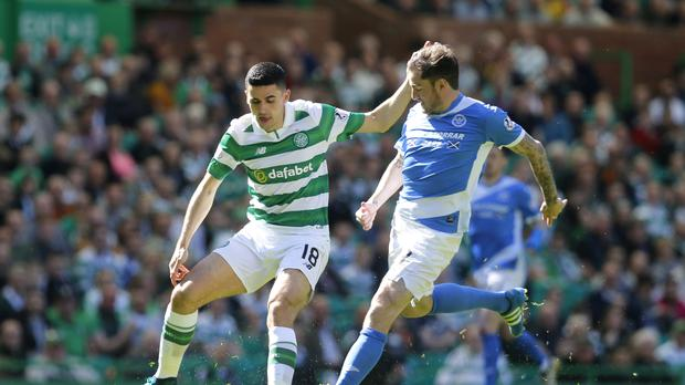St Johnstone's Paul Paton, right, is not surprised by interest in his club and country bosses