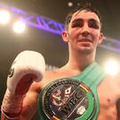 Jamie Conlan celebrates his victory over Yader Cardoza. Photo: PA