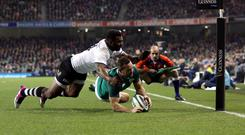 Dave Kearney scores Ireland's second try