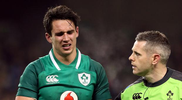 Joey Carbery suffered a suspected broken arm against Fiji