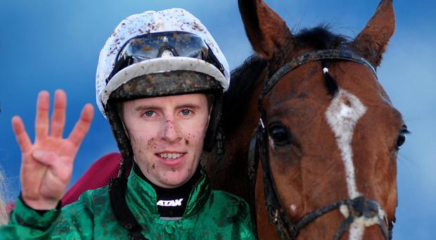 Mark Walsh after Let's Twist Again completed his Limerick four-timer