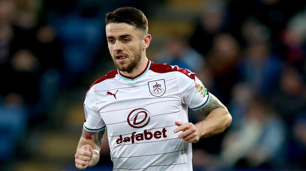 Burnley's Robbie Brady suffered a knee injury at Leicester and faces a
