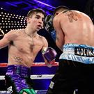 Michael Conlon beat Luis Fernando Molina during their featherweight bout at Madison Square Garden