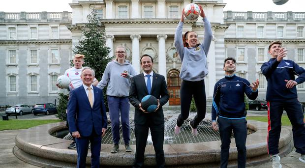 Independent journalists features and stories independent taoiseach leo varadkar with students emma crumlish and ciara rooney at last weeks announcement that pe malvernweather Choice Image