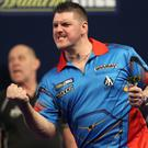 Daryl Gurney, pictured, beat Ronny Huybrechts 3-1 on Monday night
