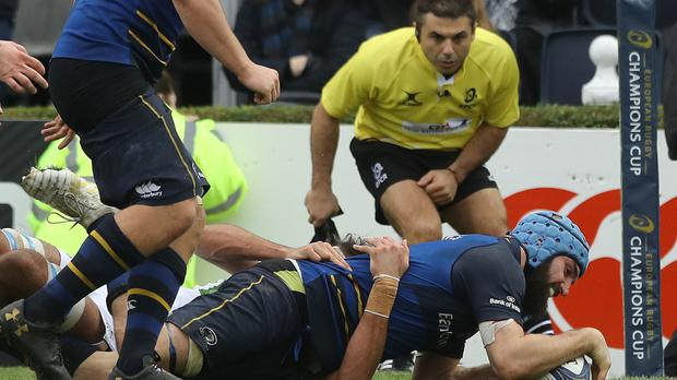 Scott Fardy scored two of Leinster's tries