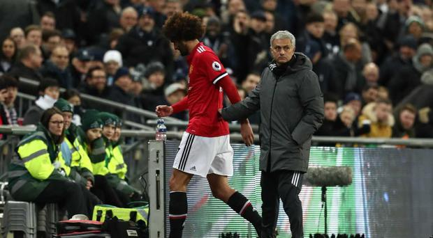 Mourinho confirms Fellaini had a knee injury and had to be taken off