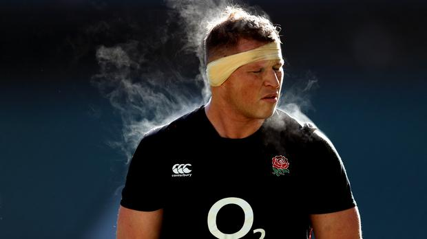 Dylan Hartley looks fit to face Ireland.