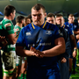 Jack McGrath leads his side off the pitch after last weekend's defeat to Benetton. Photo: Sportsfile