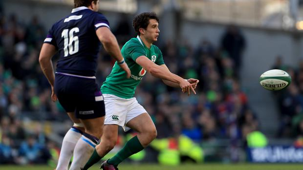 Ireland's Joey Carbery has a chance to make his mark at fly-half in the first Test against Australia (Donall Farmer/PA Images).