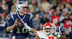 Tom Brady leads the New England Patriots against the Chicago Bears tonight with, according to fivethirtyeight.com, a 60 per cent chance of victory. Photo: Getty