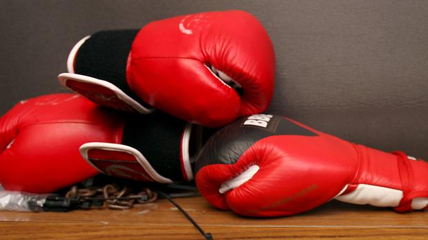'Boxer Andy: one afternoon at Ballincurry sports, he beat the opponent he was listed on the poster to fight.' Stock photo