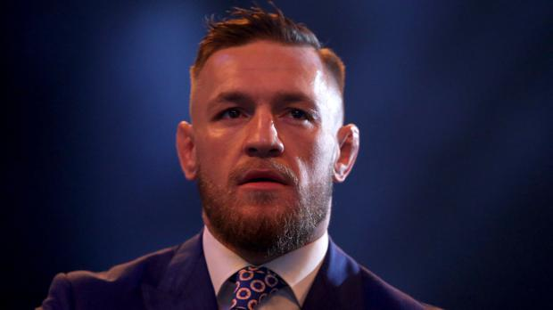 Charged: Conor McGregor has been accused of 'criminal mischief'. Photo: PA