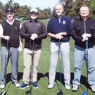 Bill Pennington, Mick Warner, Vincent Hogan and Nick Wright on the Augusta National course