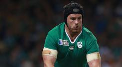 Although injury has deprived the Tullow Tank of another half-century of caps, his greatest moments in green have come at World Cups. Photo: David Davies/PA