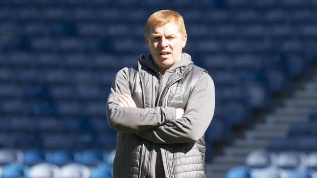 Celtic manager Neil Lennon faces Hearts in Scottish Premiership action at Parkhead on Sunday (Jeff Holmes/PA)
