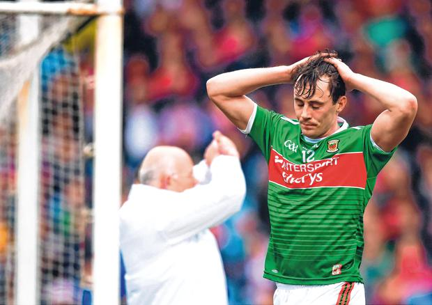 Second chance: Mayo captain Diarmuid O'Connor knows he and his team-mates can't afford to waste any more opportunities. Photo: Sportsfile