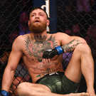 Conor McGregor sfter defeat to Khabib Nurmagomedov. Photo: Sportsfile
