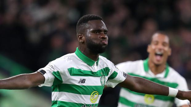 Odsonne Edouard scored Celtic's opener in the Old Firm derby (Andrew Milligan/PA)