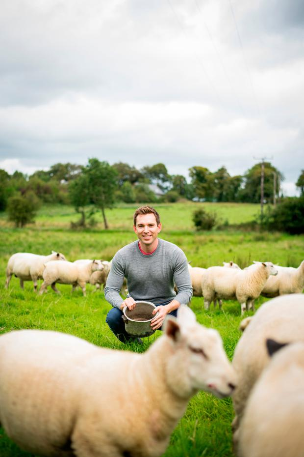 Daniel Davy on the farm in Sligo. Photo: Julia Dunin