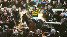 Despite his best efforts, McCoy could not quite win the AP McCoy Grand Annual Chase race