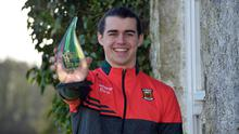 Mayo footballer Oisin Mullin pictured with his award for Young Sportstar of the Year. Photo: Ray Ryan