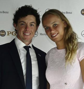 Rory McIlroy and Caroline Wozniacki pictured together during 2013