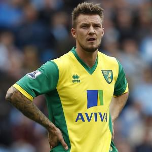 Anthony Pilkington scored in Norwich's victory over Manchester City on Sunday