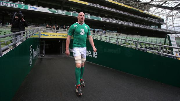 Paul O'Connell, pictured, has been praised by Reggie Corrigan
