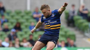 Leinster's Ian Madigan kicks a penalty during the win over Bath